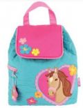 Stephen Joseph Quilted Horse Backpack